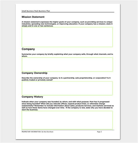 blank template for business plan business outline template 20 free sles formats