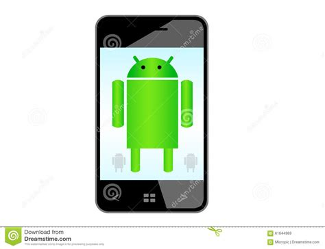 android cell phone android mobile phone editorial stock image image 61644969