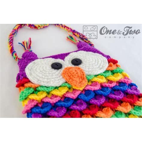 owl tote bag crochet pattern free colorful owl purse crochet pattern