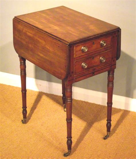regency mahogany worktable small antique bedside table