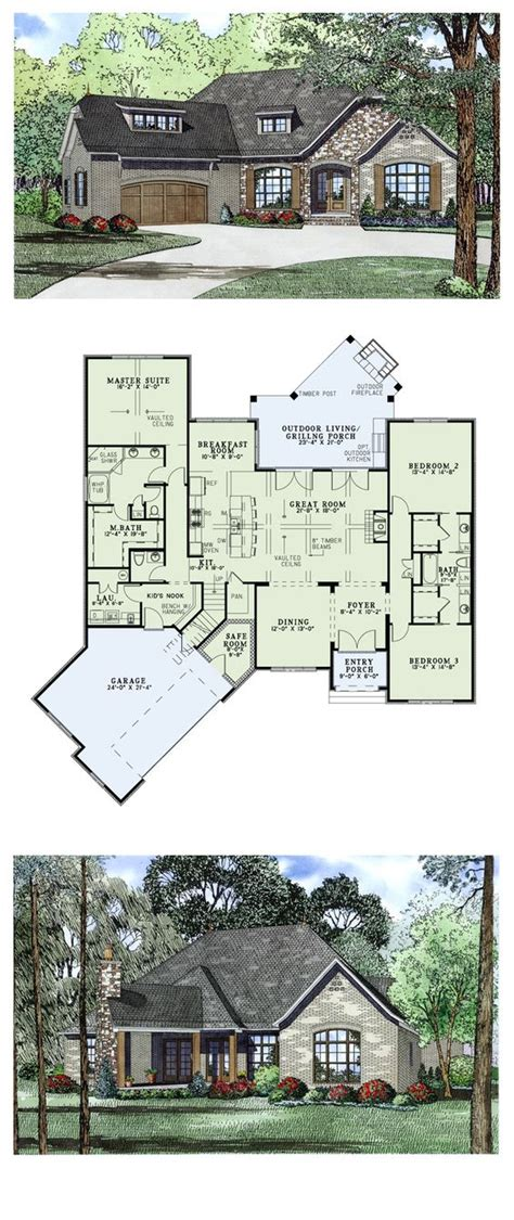 European Style Floor Plans by Craftsman European House Plan 82166 European House Plans