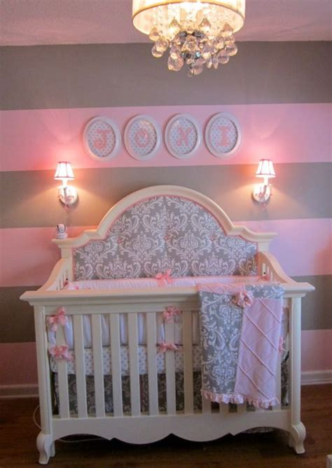 Stella Gray Crib Bedding Pink And Gray For Baby J Baby And Nurseries