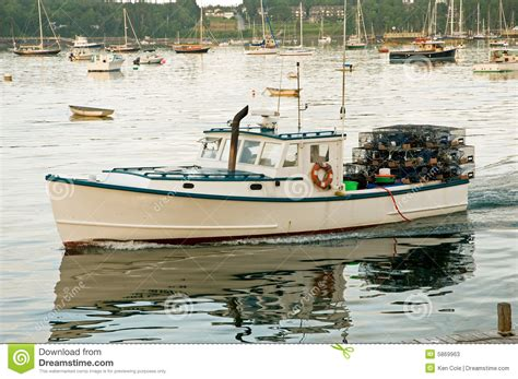lobster boat seafood on the water lobster boat leaving harbor stock photos image 5869963