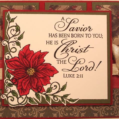 religious christmas card  bible verse  poinsettia