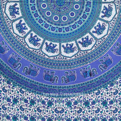 Blue Hippie Floral Mandala Tapestry Bedspread Bed Cover | blue hippie floral mandala tapestry bedspread bed cover