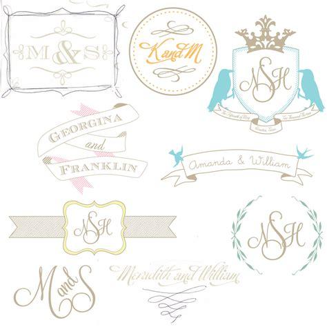 Wedding Logos by Wedding Logos Chic And Sofia Invitations