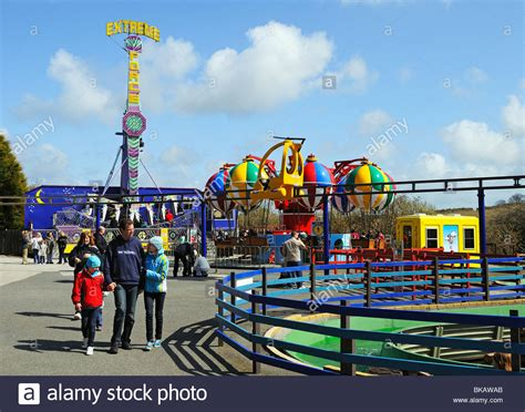 theme park cornwall holidaymakers at flambards fun park near helston in