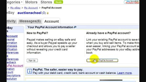 ebay new account ebay account how to link paypal to ebay account youtube