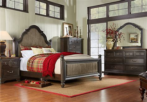 cherry king bedroom sets arbor ridge cherry 5 pc king poster bedroom transitional