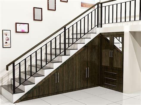 model tangga rumah tangga rumah tingkat klasik bahan kayu dan besi desain rumah unik