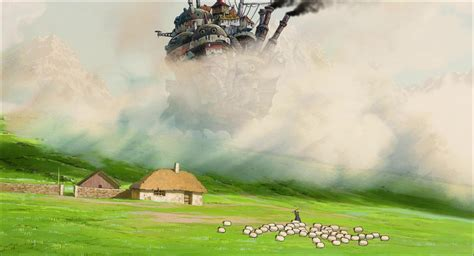 movable wallpaper backgrounds wallpaper cave howl s moving castle wallpapers wallpaper cave