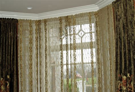 curtains for bay windows in dining room dining room bay window treatment transitional curtains