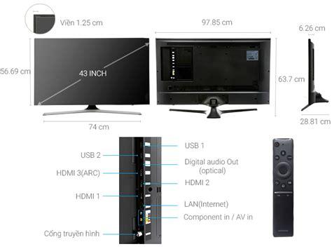smart tivi samsung 43 inch ua43mu6100 苣盻冂 quy盻 gi 225 t盻奏