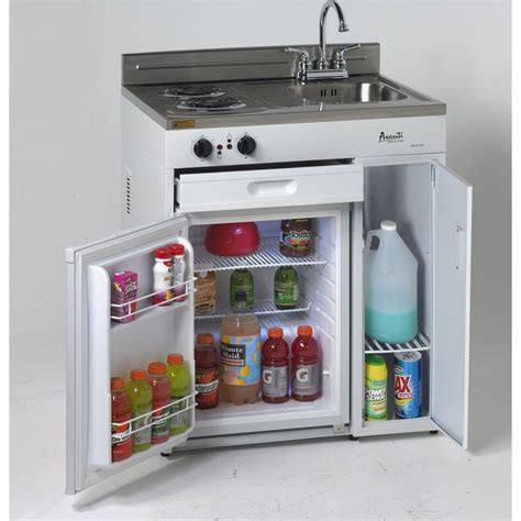 compact appliances for small kitchens ck3616 avanti 36 quot compact kitchen with refrigerator
