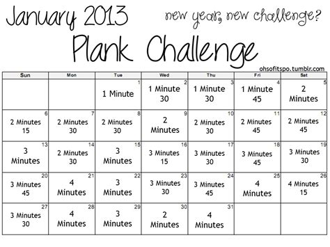 30 day plank challenge calendar ab challenge for january 2015 new calendar template site