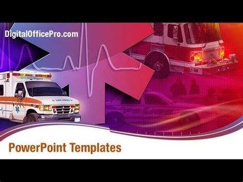 medical ambulance powerpoint template backgrounds