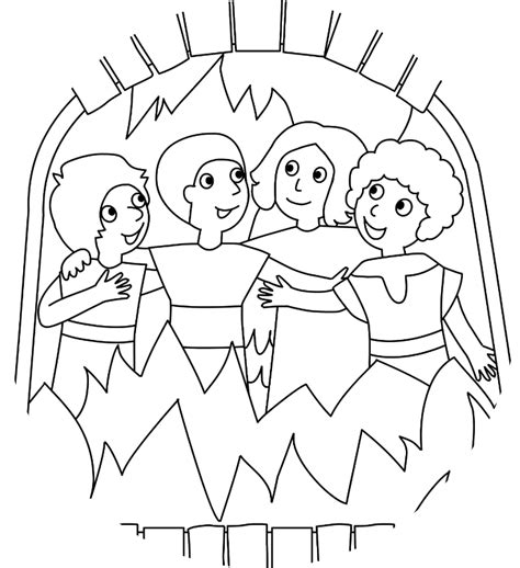 fiery furnace bible coloring pages preschool coloring pages
