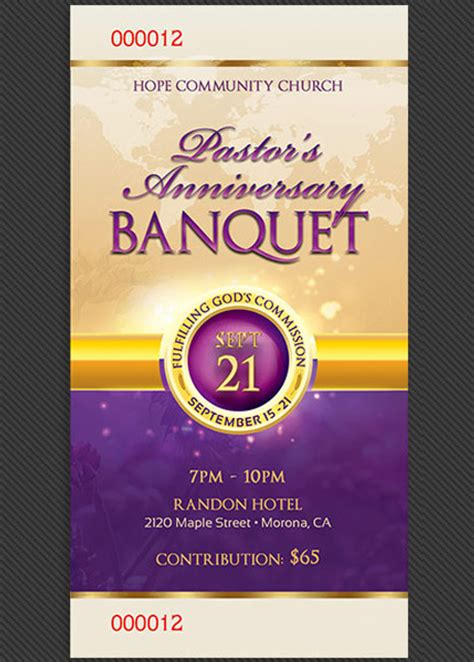 Wedding Anniversary Banquet Ideas by Clergy Anniversary Banquet Ticket Template By Godserv On