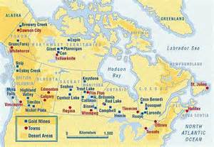 map of mines in canada how to find gold
