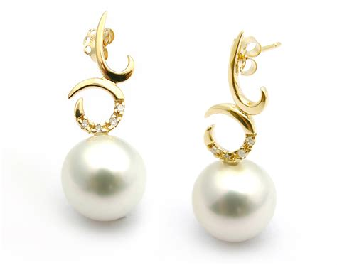 White Earring white south sea pearl earring 10 11mm aaa pearl