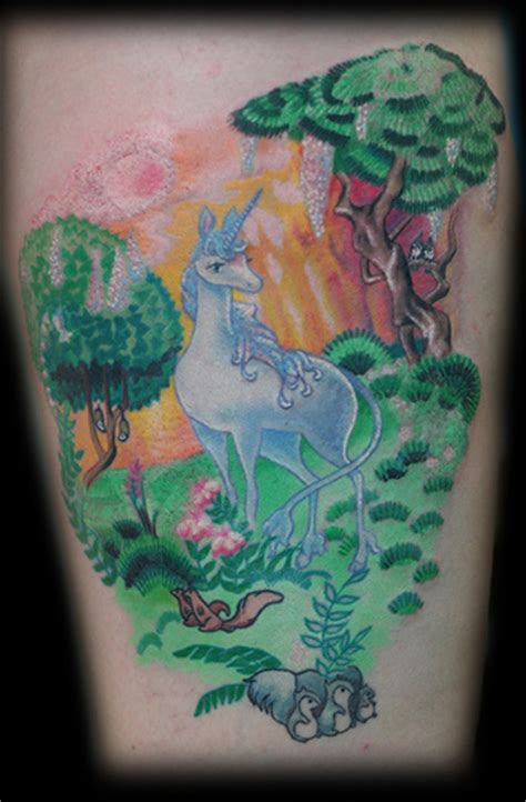 annie mess tattoo the last unicorn by mess tattoonow
