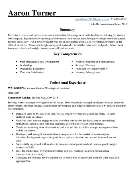 Sle Retail Manager Resume by Retail District Manager Resume Sle 28 Images Retail Resume Sle Resume Sle Retail Buyer