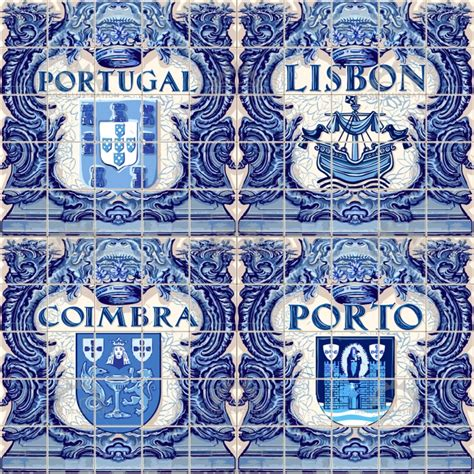 azulejos portugal azulejos lisbon vector images for souvenir image