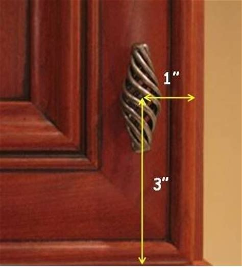 Cabinet Door Pull Placement Measuring For Hardware Placement S New House Pinterest