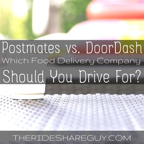 Doordash Background Check Postmates Vs Doordash Which Food Delivery Company Should You Drive For