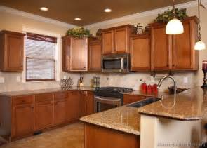 kitchens oak medium kitchen color schemes traditional wood golden brown