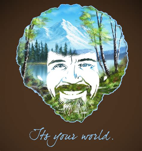 bob ross painting the universe the of bob by zpapageo on deviantart