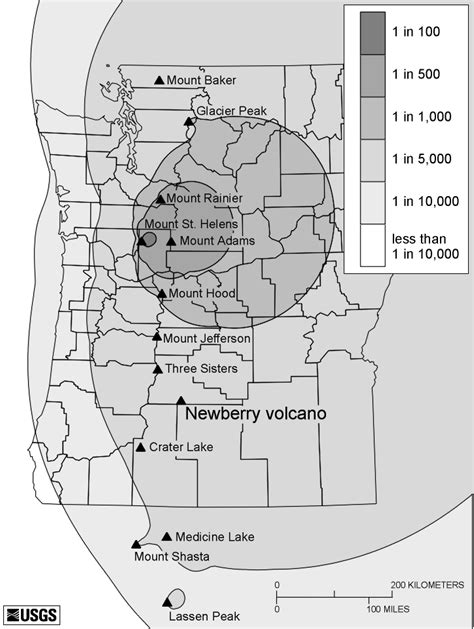map of oregon volcanoes cvo website sherrod et al 1997 volcano hazards at