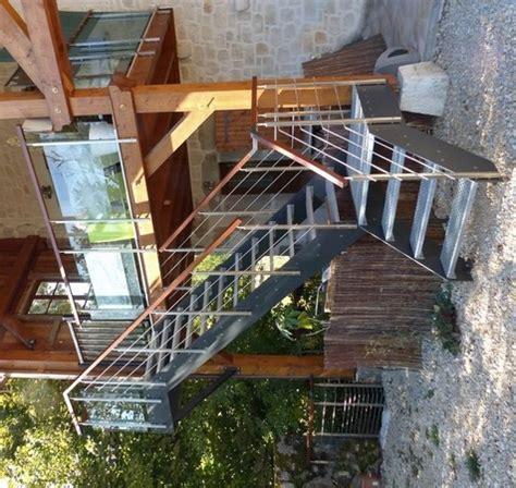 Escalier Exterieur En Bois by Escaliers Ext 233 Rieurs Design Marches M 233 Tal Ou Bois