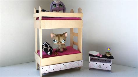 how to make a bunk bed shelf how to make a tiny bunk bed with drawer for lps littlest