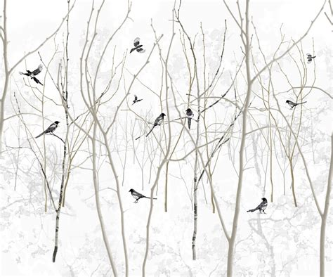 Wallpapers Home Decor Pattern Magpie
