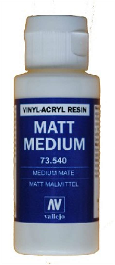 vallejo paints 60ml bottle matte medium