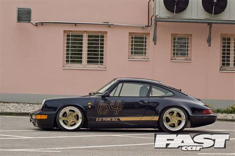stanced porsche stanced porsche 964 fast car