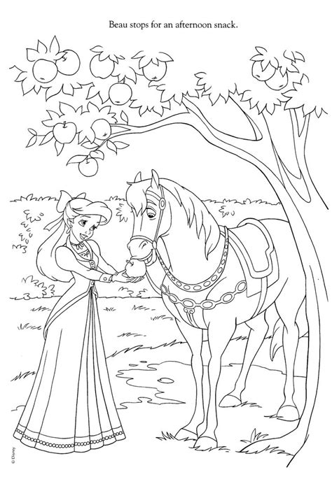coloring pages of disney horses 2062 best disney prinsesser images on pinterest