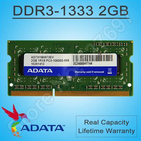 Ram Laptop Adata 2gb adata notebook ram module ddr3 1333mhz single memory modules 2gb ram 1066 compatible for lenovo