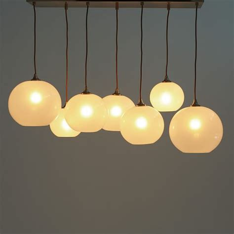 Glass Orb Chandelier Opal West Elm Glass Orb Chandelier