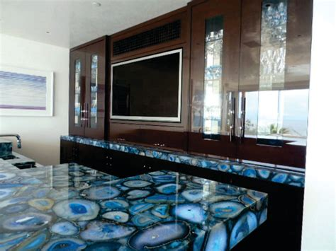 Bathroom Renovation Orange County Caesarstone S Concetto Collection Blue Agate Backlit With