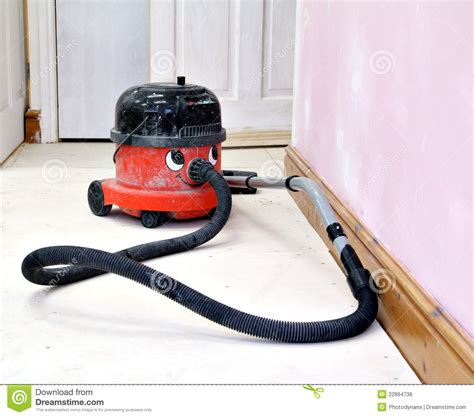 happy working hoover vacuum cleaner royalty free stock image image 22894736