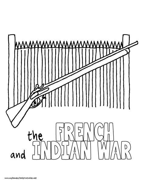french and indian war coloring pages printables coloring pages