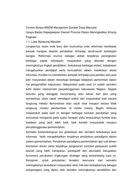 skripsi jurnal akuntansi manajemen contoh jurnal skripsi manajemen sumber daya manusia wo