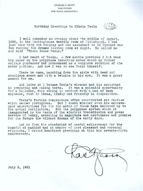 Tesla Letter Tesla Letter Tesla Image