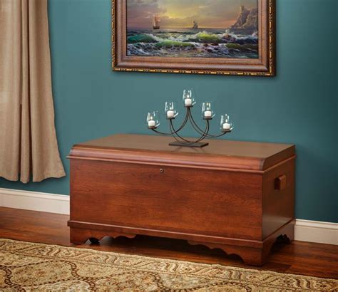 cherry wood hope chest from dutchcrafters amish furniture