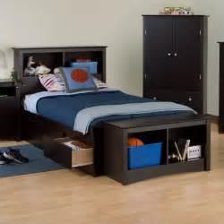 Xl Bed Frame With Storage Black Sonoma Xl Bookcase Platform Storage Bed Bbx