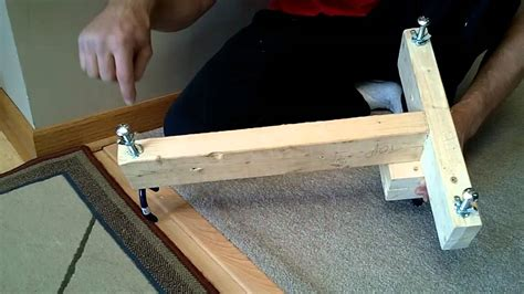 diy bench rest for target shooting rifle shooting stand rest diy homemade 5 youtube
