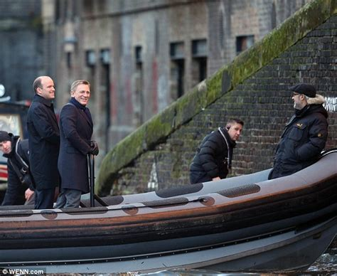 direct tv for boats daniel craig jokes with director sam mendes as they film