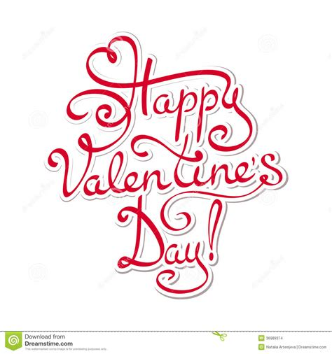 happy valentines day lettering happy valentines day stock vector illustration of date